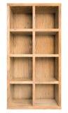 A caixa de madeira ou a cremalheira velha vazia isolaram a ilustração 3d Fotografia de Stock Royalty Free