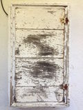 Caixa de madeira pintada envelhecida rústica Fotografia de Stock