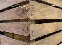 Caixa de madeira retro velha do vinho em vistas diferentes imagem de stock royalty free