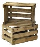 Caixa de madeira suja vazia Imagem de Stock