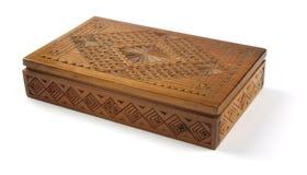 Caixa de madeira (trajeto de grampeamento) Imagem de Stock Royalty Free