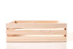 Caixa de madeira vazia fotos de stock