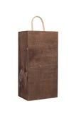 Caixa de madeira vazia isolada Fotografia de Stock Royalty Free