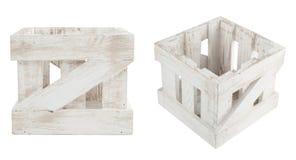 Caixa de madeira vazia no pintainho gasto Imagens de Stock Royalty Free