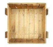 Caixa de madeira velha interna Imagens de Stock
