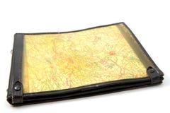 Caixa de mapa piloto Fotografia de Stock