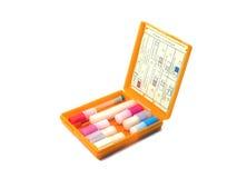 Caixa de medicina individual Imagem de Stock
