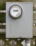 Caixa de medida elétrica imagem de stock