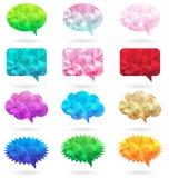Caixa de mensagem poligonal colorida Fotos de Stock Royalty Free