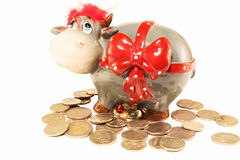 Caixa de moeda Imagens de Stock