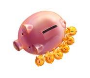 Caixa de moeda ilustração royalty free