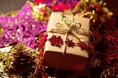 Caixa de Natal Fotografia de Stock