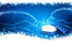 Caixa de Natal mágica Imagens de Stock