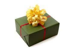 Caixa de Natal verde imagem de stock royalty free
