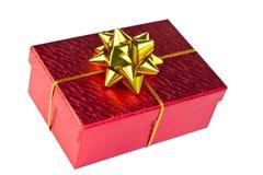 Caixa de Natal vermelha Imagem de Stock Royalty Free