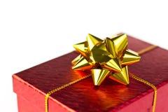 Caixa de Natal vermelha Foto de Stock Royalty Free
