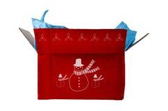 Caixa de Natal vermelha aberta Imagem de Stock
