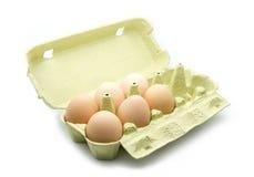 Caixa de ovo Fotos de Stock