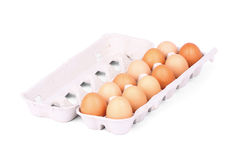Caixa de ovo Fotografia de Stock