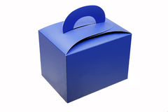 Caixa de papel azul Foto de Stock Royalty Free