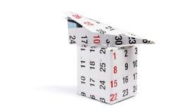 Caixa de papel de Planeand do calendário Foto de Stock Royalty Free