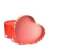 Caixa de papel do presente da forma do coração Imagem de Stock Royalty Free