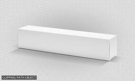 Caixa de papel de empacotamento vazia do cartão branco para o projeto de produto Imagem de Stock Royalty Free