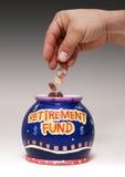 Caixa de pensões Imagens de Stock