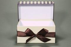 Caixa de presente aberta Fotos de Stock