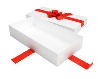 Caixa de presente aberta Fotografia de Stock