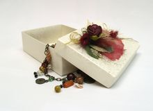Caixa de presente aberta Imagem de Stock Royalty Free