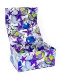 Caixa de presente aberta colorida Imagens de Stock Royalty Free
