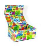Caixa de presente aberta colorida Fotos de Stock Royalty Free