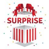 Caixa de presente aberta da surpresa ilustração royalty free
