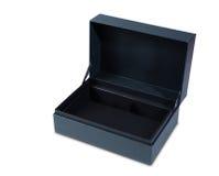 A caixa de presente aberta esvazia isolado no branco Imagem de Stock