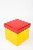 Caixa de presente amarela Fotografia de Stock