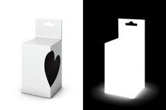 Caixa de presente branca Fotografia de Stock
