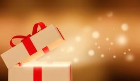 Caixa de presente brilhante Fotografia de Stock Royalty Free