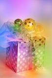 Caixa de presente colorida Fotografia de Stock