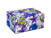 Caixa de presente colorida Imagem de Stock Royalty Free