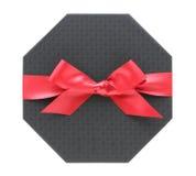 Caixa de presente com curva da fita Imagem de Stock Royalty Free