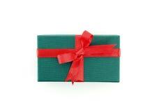 Caixa de presente com fita vermelha Imagens de Stock