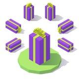Caixa de presente com uma curva Fotos de Stock