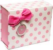 Caixa de presente cor-de-rosa Foto de Stock Royalty Free