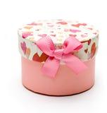 Caixa de presente cor-de-rosa hand-made bonita Imagens de Stock