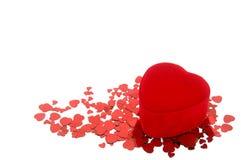 Caixa de presente da forma do coração Imagens de Stock Royalty Free