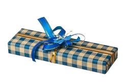 Caixa de presente de época natalícia imagens de stock
