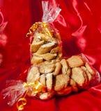 Caixa de presente de biscoitos feitos home italianos Imagem de Stock