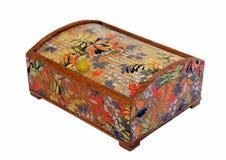 Caixa de presente de madeira pequena Imagens de Stock Royalty Free