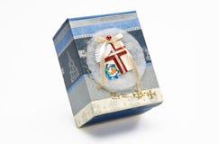 Caixa de presente decorativa do Natal Fotografia de Stock Royalty Free